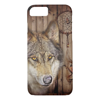 Western dream catcher  native american indian wolf iPhone 7 case