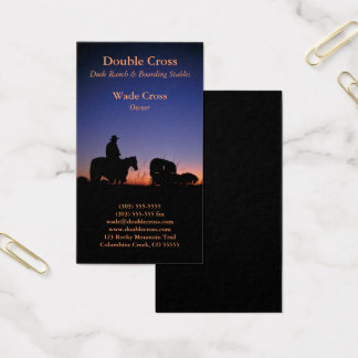 Western Dude Ranch Business Card