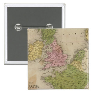 Western Europe 2 Inch Square Button