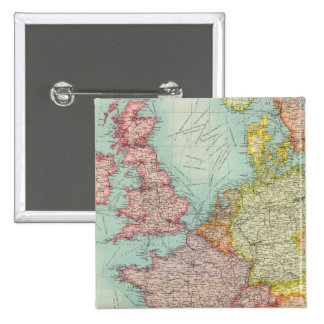 Western Europe communications 2 Inch Square Button