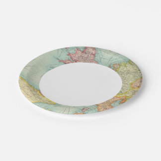 Western Europe communications 7 Inch Paper Plate