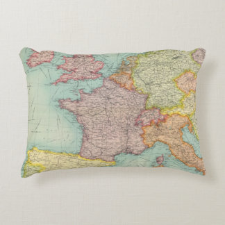 Western Europe communications Accent Pillow
