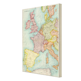 Western Europe communications Stretched Canvas Print