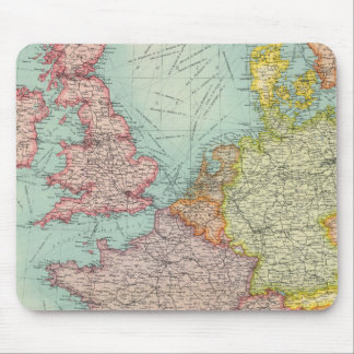 Western Europe communications Mouse Pad