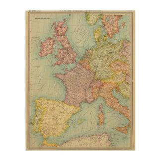Western Europe communications Wood Canvas