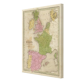 Western Europe Stretched Canvas Print