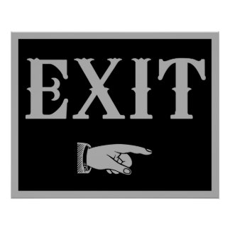 Western EXIT Sign