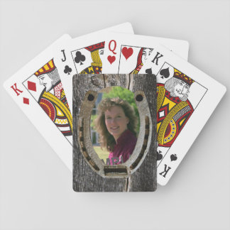 Western flavor, your photo, horseshoe playing cards