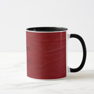 Western Fun! Red Leather Look Print Coffee Cup