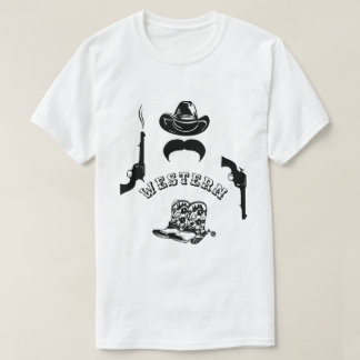 Western funny, unique, elegant, customizable T-Shirt