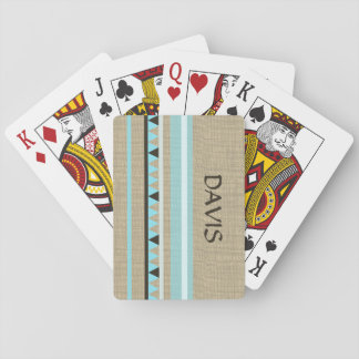 Western Geometric Rustic Country Playing Cards