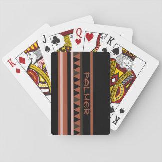 Western Geometric Rustic Country Poker Deck