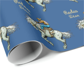 Western Gift Wrapping Paper Rodeo Bronc Rider