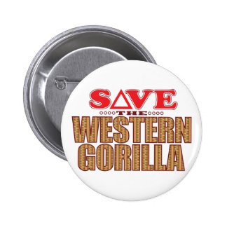 Western Gorilla Save 2 Inch Round Button
