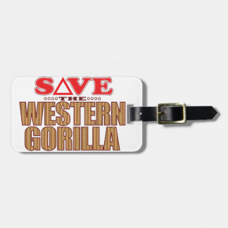 Western Gorilla Save Luggage Tag
