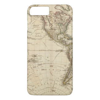 Western Hemisphere Circular Map iPhone 7 Plus Case