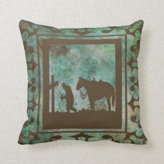 Western Home Decor Cowboy Prayer Pillow