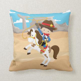 Western Horse Cowboy Desert Lasso Rope Rancher Throw Pillow