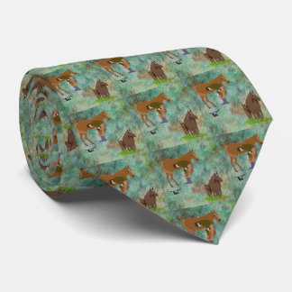 Western Horse Farrier With Horses Tie