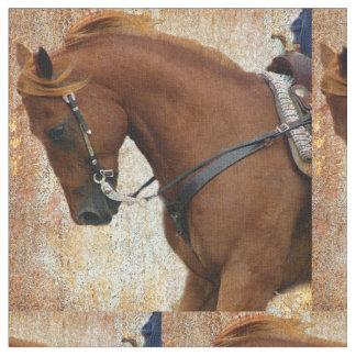 Western Horse Grunge Fabric
