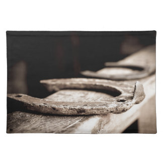 Western Horse shoe country design Placemat