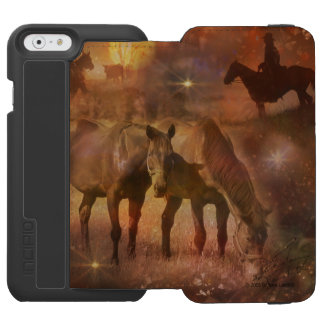 Western Horses Grazing in the Sunset Incipio Watson™ iPhone 6 Wallet Case