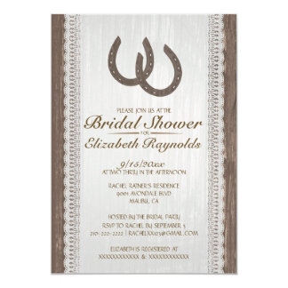 Western Horseshoe Bridal Shower Invitations