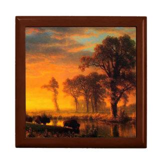 Western Kansas Golden Oak Gift Box