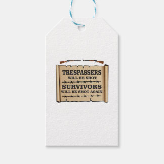 western laws of land pack of gift tags