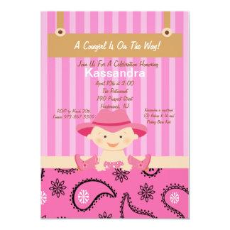 Western Little Cowgirl Baby Shower Invitation