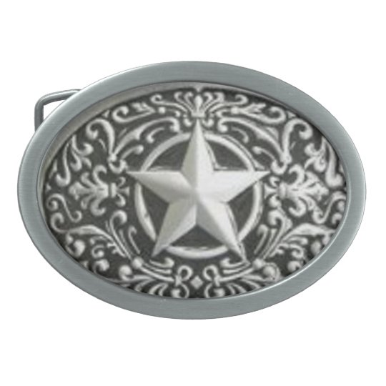 Western Lone Star Belt Buckle