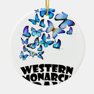 Western Monarch Day - Appreciation Day Ceramic Ornament