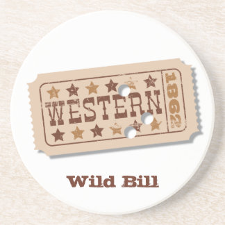 Western Movie Ticket Coaster