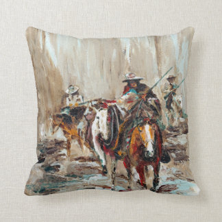 Western Painting - Rendez-Vous Throw Pillow