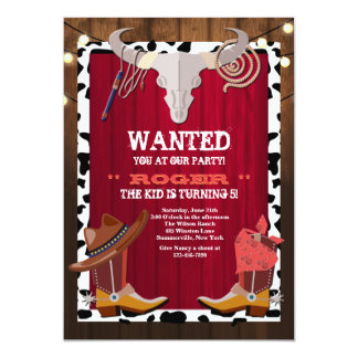 Western Party Invitation
