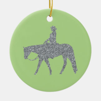Western Pleasure Bling/Green Christmas Ornament