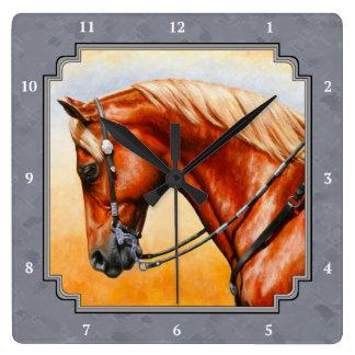 Western Pleasure Quarter Horse Gray Clocks