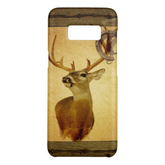 Western Primitive barn wood buck white tail deer Case-Mate Samsung Galaxy S8 Case