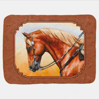 Western Quarter Horse Rustic Brown Baby Blanket