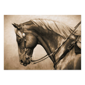 Western Ranch Horse Old Photo Sepia Large Business Card