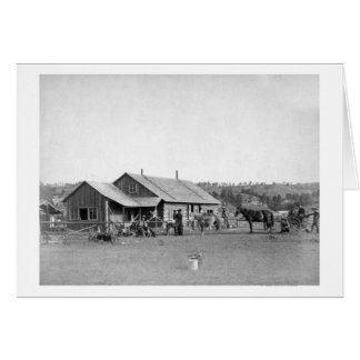 Western Ranch House in South Dakota Photograph Card