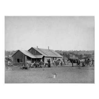 Western Ranch House in South Dakota Photograph Poster