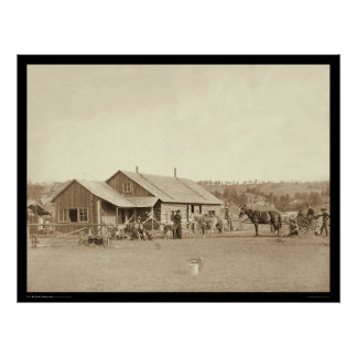 Western Ranch House SD 1888 Poster