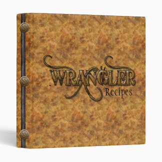 Western Recipes Cookbook Binder