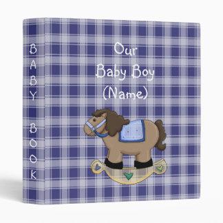 Western Rockin Horse Baby Book Album Binder