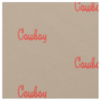Western Rodeo Cowboy Rope Text Print Fabric