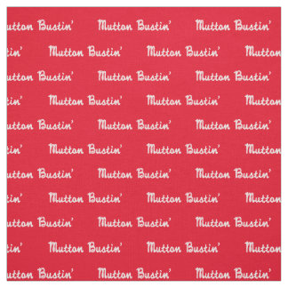 Western Rodeo Mutton Bustin Rope Text Print Fabric