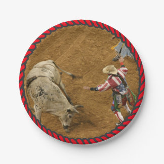 Western Rodeo Party Paper Plates
