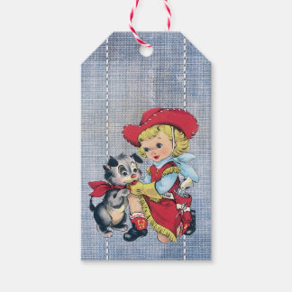 Western Roundup Denim Favor Tag Pack Of Gift Tags
