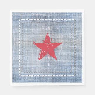 Western Roundup Star Napkin Paper Napkin